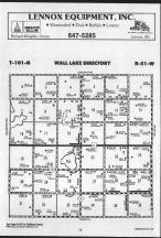 Wall Lake T101N-R51W, Minnehaha County 1988